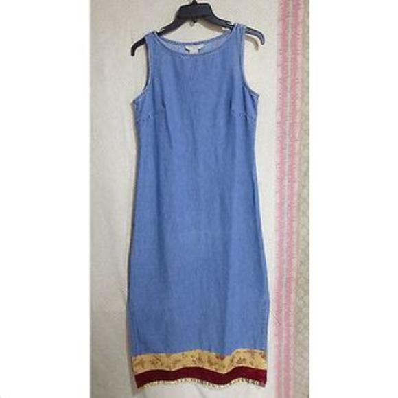 Sweet Jesse Dresses & Skirts - Sweet Jessie Blue Denim Dress Size Petite M